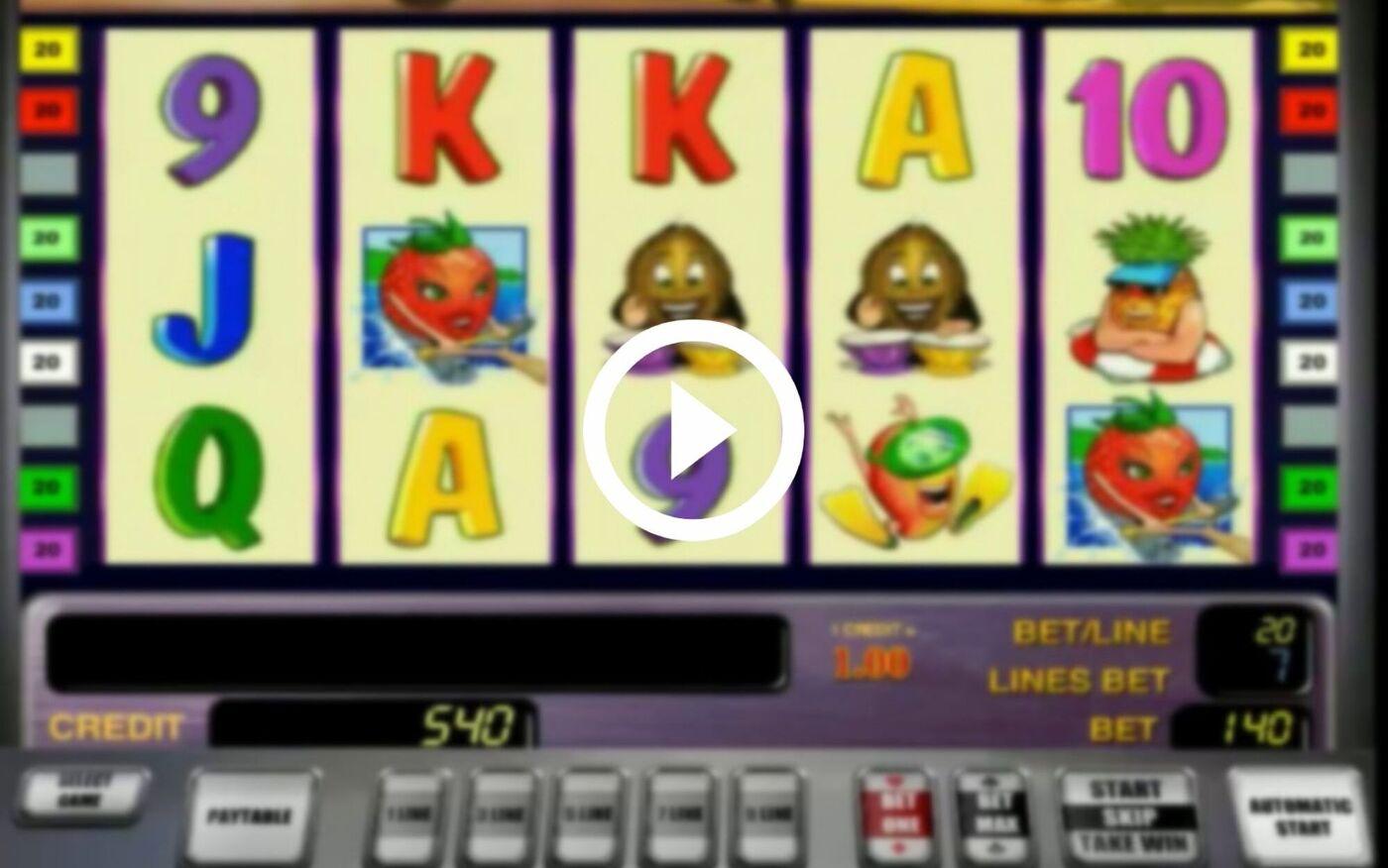 Игровой автомат Banana Splash играть онлайн