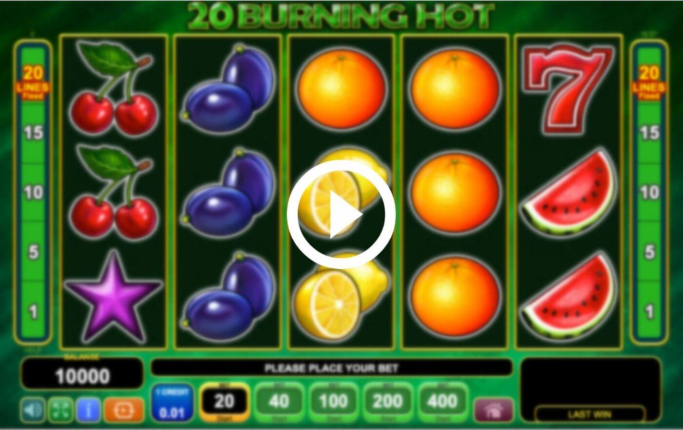 20 burning hot играть онлайн